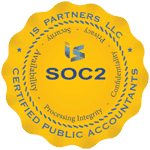Security compliance emblem for SOC2 awared to JLS Mailing Services in 2017.